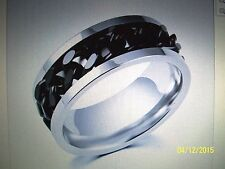 """""""Simply Awesome""""  2 Tone Great Quality Heavy Duty Biker Band Chain Ring Sz 9"""