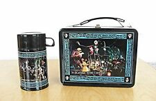 RARE NEW THE NIGHTMARE BEFORE CHRISTMAS METAL LUNCH BOX WITH THERMOS NECA BURTON