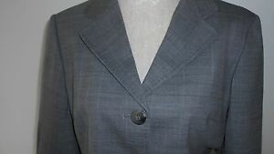 Next Tailored Grey Check Single Breasted Jacket & Knee Length Skirt Fully Lined