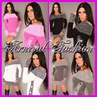 NEW SEXY WOMENS DESIGNER JUMPER MINI DRESS SIZE 6 8 10 12 14 LADIES TOP S M L XL