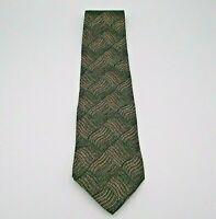 Zylos George Machado Men's Neck Tie Brown, Blue, & Black Geometric Pattern Silk