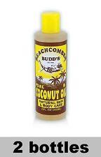 Hawaiian Beachcomber Budd'S Scented Pure Coconut Oil Hawaii New *2Bottle Tanning