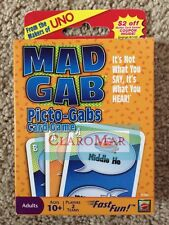 ☀️ NEW Mattel Mad Gab Picto-Gabs Card Game (makers of UNO) Travel Family Fun