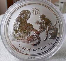 5 oz Lunar Silber Münze Affe Lunar Monkey 2016 Silver Coin