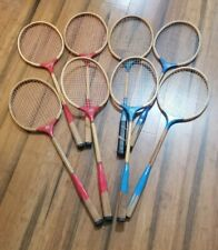 Lot of 8 Vintage Badminton Racket (4) Best Ever (3) Play King (1) Four Stars