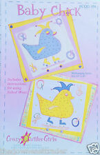 """""""Baby Chick"""" Wallhanging Quilt Pattern Crazy Quilter Girls c2006 (19"""" x 20"""") New"""