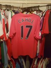 Everton Football Shirt 2010/11 Away Pink XL ~ Cahill 17