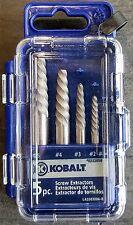 Kobalt 5 Piece Spiral Screw Extractor Set Includes #1, #2, #3, #4, & #5