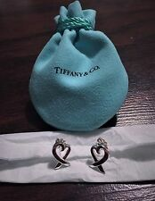 $275 Tiffany & Co. Sterling Silver 925 Paloma Picasso Loving Heart Stud Earrings