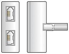 AV Link 283.902 linea telefonica SOCKET PLUG 2 Way Doppio Adattatore Splitter-Bianco