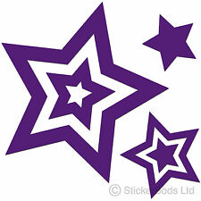 36 PURPLE STAR STICKERS DECALS for Car | Wall | Home t6