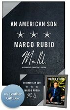 MARCO RUBIO Signed Book An American Son President 2016 Leather Deluxe Box COA