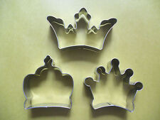 3' Crowns Biscuit Fondant Pastry Baking Stainless Steel Cookie Cutters Set