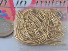 1 filo di canutiglia fine dorata del diametro di 1 mm  pesa circa 0,7 grammi