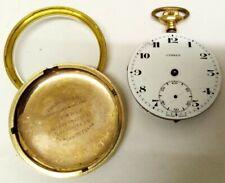 Antique CYMREX Gold Plated pocket watch. Swiss Made. Brevets movement. Running