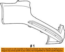 CHRYSLER OEM 11-15 Town & Country Rear Bumper-Cover 68125726AB