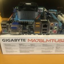 Gigabyte GA-MA78LMT-US2H Socket AM3+ DDR3 HDMI PCI-E Motherboard and Backplate