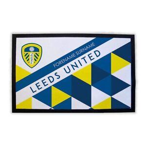 Leeds United F.C - Personalised Door Mat (PATTERNED)