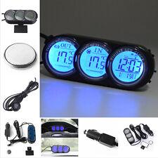 Mini Dashboard LED Backlight Digital Display Temperature Thermometer Clock Gauge