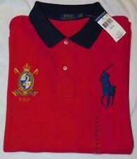 New Men's Polo Ralph Lauren S/S Big Pony & Crest Polo Shirt Size 2XB Big
