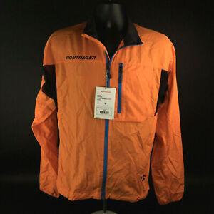 NWT Bontrager Cycling Packable Men's Rhythm Windshell Jacket High Viz Orange S