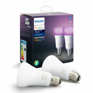 Philips Hue White and Color Ambience A60 Doppelpack Glühbirnen E27