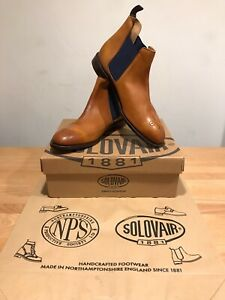 NPS SOLOVAIR Stanley Tan/Brown Chelsea Brogues Boots!SizeUK12! New! Only£189.90!