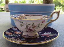 Wedgwood Wonderlust Midnight Crane Cup and Saucer Set New in Box