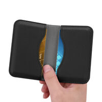Business ID Credit Card Holder Wallet Folio RFID Blocking Organizer Leather Case