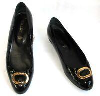 BALLY - Chaussures ballerines cuir verni noir 9.5 US 40 EUR - TRES BON ETAT
