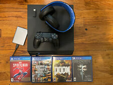 Sony PlayStation 4 Pro 1TB With 1tb External HD And Headphones/games