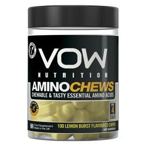 Amino Chews, Chewable and Tasty Essential Amino Acids, BCAA, EAA Complex, Vegan