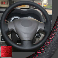 Leather DIY Wrap Steering Wheel Cover for 2009-13 11 Toyota Corolla L XLE Sedan