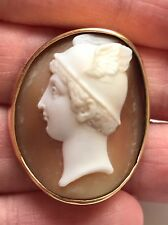 Antique Victorian 14ct Gold Hermes (Mercury) Cameo Brooch