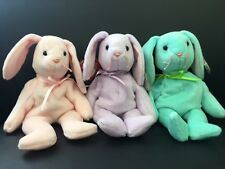 Ty Beanie Baby Hoppity Floppity & Hippity Bunny Set 3 Original Collection