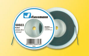Viessmann 68603 Kabel, 0,14 mm²,schwarz, 25 m, Grundpreis 1 m = € 0,16