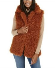 NWT INC International Concepts Womens Wild Faux Fur Vest with Pockets Size S/M