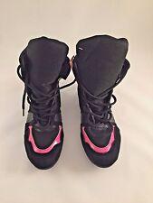 Unbranded Premium Boxing Boots/Shoes Unisex Gym/Training Black/pink Size 8 9 10
