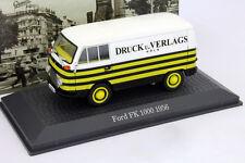 Ford FK 1000 Baujahr 1956 Druck und Verlags Köln weiß / gelb 1:43 Atlas
