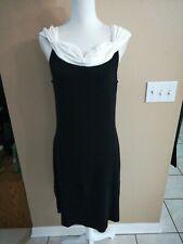 BCBG MAXAZRIA  Fitted Black & White Sweater Dress Size XL Z11