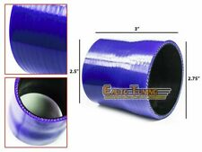 """2.75"""" To 2.5"""" Silicone Intake/Intercooler Pipe Coupler BLUE For Mercury/Volvo"""