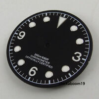 30.4mm Black Dial Luminous Marks Fit For ETA 2824 2836 Miyota 8215 8205 Movement