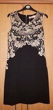Maya Black Gold Lace Bodycon Dress Size 14 New Occasion Races