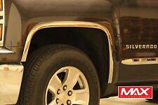 FTCH205 2014-2015 Chevrolet Silverado 1500 POLISHED Stainless Steel Fender Trim