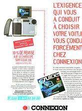 Publicité 1997  CONNEXION camescope sony CCD - SC 55 E  magasin hifi