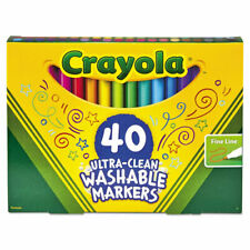 Ultra-Clean Washable Markers, Fine Bullet Tip, Classic Colors, 40/Set