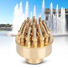 "Brass Blossom Fountain 3 Layers Nozzle Spray Nozzles Head Garden Pond G1-1/2"""