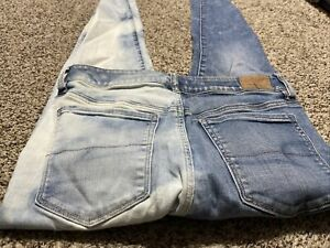 AE AMERICAN EAGLE OUTFITTERS HI RISE JEGGING SUPER STRETCH X WOMENS JEANS 10 L