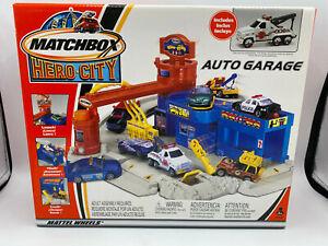 Matchbox Hero City Auto Garage Deluxe Playset w Bonus Diecast Tow Truck