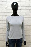 Maglia Donna Calvin Klein Taglia 38 Camicia Elastica Shirt Woman Grigio Blusa